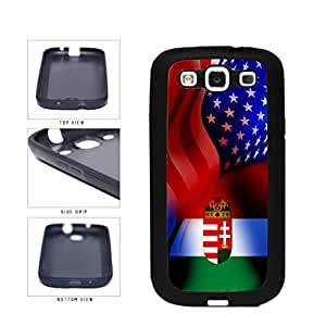 Hungary and USA Mixed Flag TPU RUBBER SILICONE Phone Case Back Cover Samsung Galaxy S3 I9300