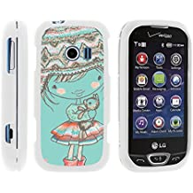 LG Extravert 2 Phone Cover, Lightweight Snap On Armor Hard Case with Cute Design Collage for LG Extravert 2 VN280 (Verizon) by MINITURTLE - Winter Beanie Girl