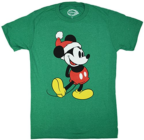 Disney Classic Christmas Holiday Mickey Mouse Standing T-shirt