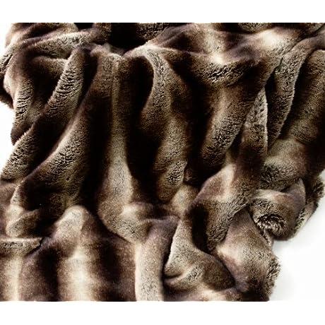 New Meribel Luxury Faux Fur Throw Blanket 71 X 55 Inches