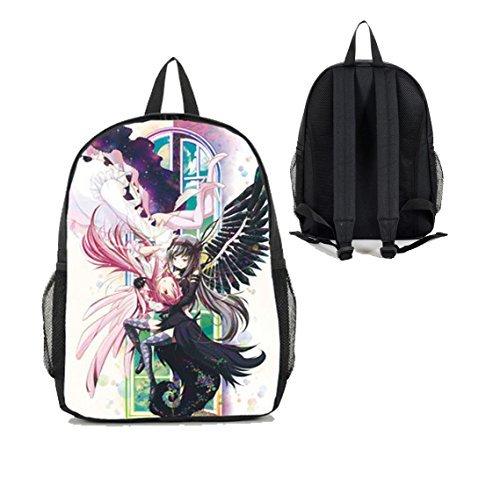 [Dreamcosplay Puella Magi Madoka Magica Lovely Girl Backpack Student Bag] (Puella Magi Madoka Magica Madoka Kaname Cosplay Costume)