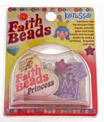 God's Girl Faith Beads Mini Fimo Necklace Bracelet and Ring Kit ()