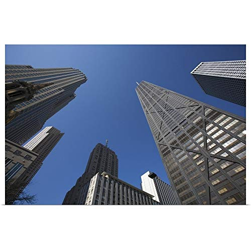 GREATBIGCANVAS Poster Print Entitled Illinois, Chicago. The Hancock Building Surrounded by Other Skyscrapers by Dennis Flaherty 18
