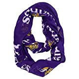 NFL Officially Licensed Minnesota Vikings Sheer Logo Infinity Scarf