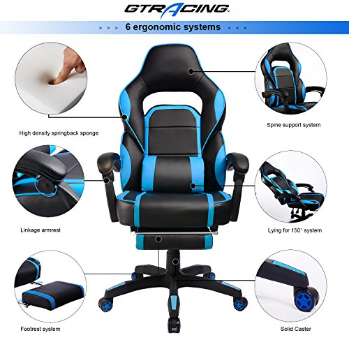 514ssm80gqL - GTracing-High-Back-Ergonomic-Gaming-Chair-Racing-Chair-Napping-Computer-Office-Chair-With-Padded-Footrest