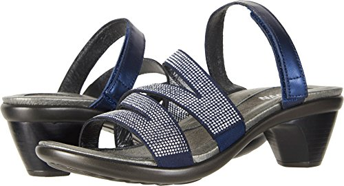 NAOT Women's Formal Slide Sandals Polar Sea Leather/Dark Blue/Nickel Rivets clearance from china qnab5
