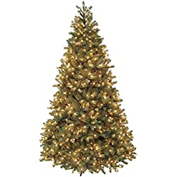 Santa's Own 16' Pre-Lit Fresh Cut Bridgeport Douglas Fir Artificial Christmas Tree - Clear Lights