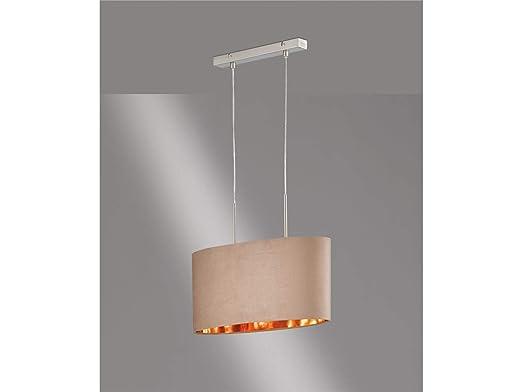 Honsel ATHEN - Lámpara de techo con LED, pantalla de tela de ...