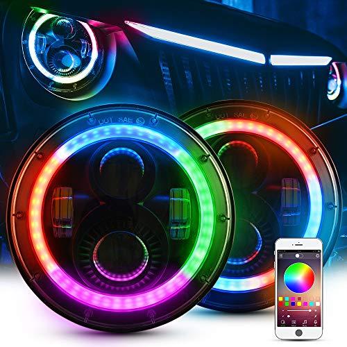 Music de Mode LED luminoso funci/ón de temporizador mictuning RGB de 4/piezas Rock Light Set con Bluetooth