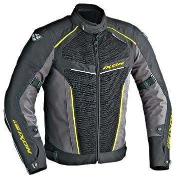 Ixon - Chaqueta Moto - Ixon Stratus HP negro/gris/amarillo Vif: Amazon.es: Coche y moto