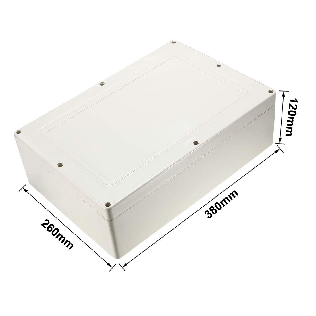 uxcell 2pcs 100x68x50mm Electronic Waterproof IP65 Sealed ABS Plastic DIY Junction Box Enclosure Case Gray a18051700ux0377