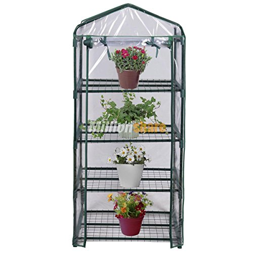 Chonlakrit 4 Shelves Green House Portable Mini Outdoor Green House Brand New Garden