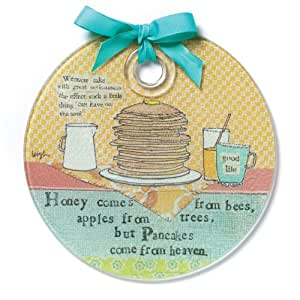 Demdaco Curly Girl Pancakes Round Cutting Board