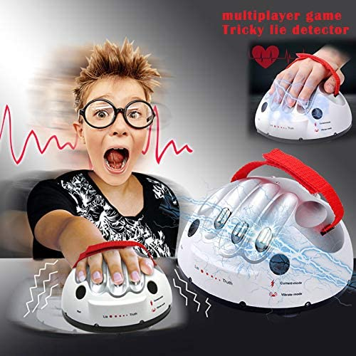 Nicknocks Safety Micro Electric Shocking Lie Detector Tricky Polygraph Test Truth Dare Party Game Analyzer Truth Shocking Liar