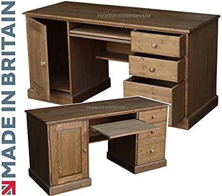 Mesa para ordenador, hechos a mano y encerado doble mesa ibatch ...