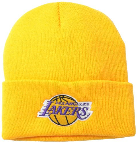 Los Angeles Lakers Yellow Beanie Hat - NBA LA Cuffed Knit Toque Cap