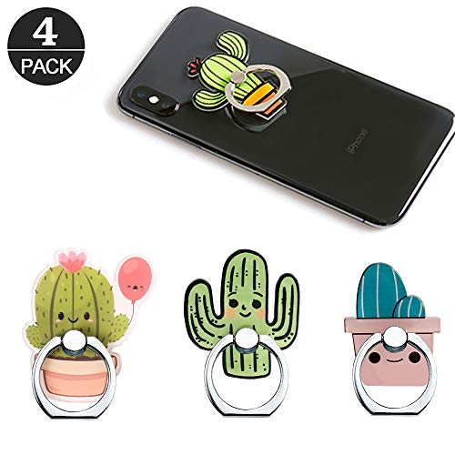 Cactus Phone Ring Holder Stand,Cactus Phone Ring Stand Holder 360 Rotation Finger Ring Grip Stand for Cellphones,Smartphones and Tablets from RRJQW