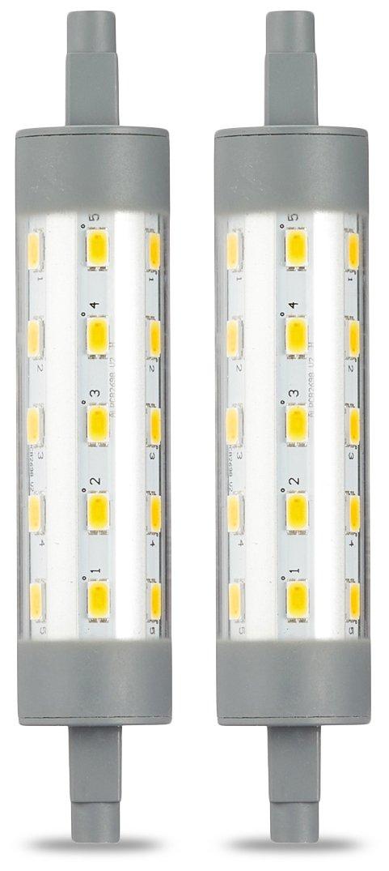Basics Bombilla LED Lineal R7S 118 mm, 6.5W (equivalente a 60W), Blanco Cá lido, 2 unidades Blanco Cálido R7S _2_R7S 60W ND plastic