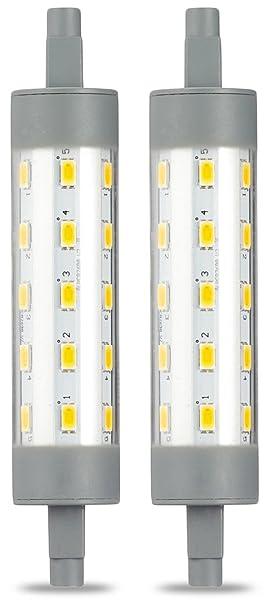 AmazonBasics R7S LED Stablampe, 6.5W (ersetzt to 60W), warmweiß, 118 mm, 2er-Pack