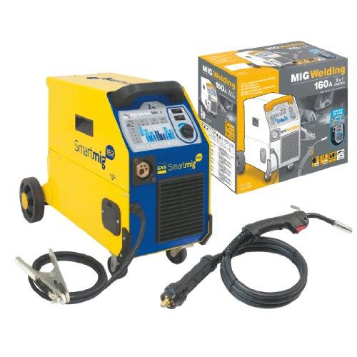 GYS Schutzgasschweißgerät 160 A, einphasig 230 V, gelb, Smartmig 162