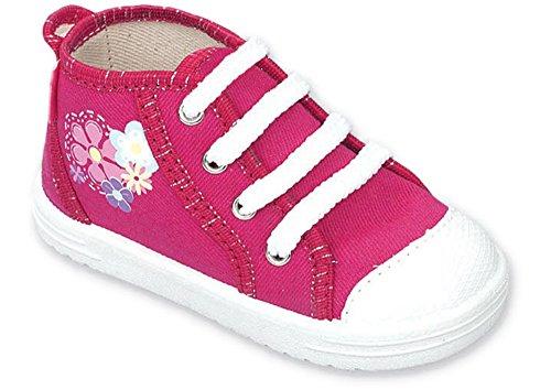 LEMIGO - Zapatillas de estar por casa de algodón para niño Rosa (Flores)