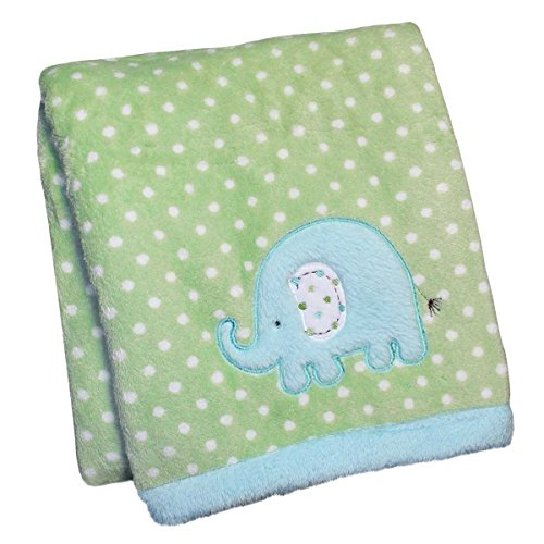 Carters Embroidered Sherpa Blanket Elephant