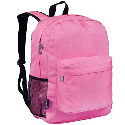 Wildkin 16 Inch Backpack, Durable Backpack with Padded Straps, Front Pocket, Moisture-Resistant Lining, and Two Mesh Side Pockets, Perfect for School or Travel – Flamingo Pink