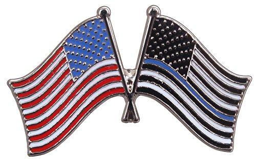 Rothco Thin Blue Line US Flag Pin