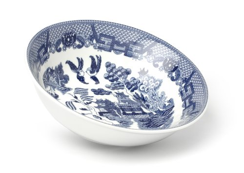 HIC Harold Import Co. YK-318 Blue Willow Vegetable Bowl, Fine White Porcelain, 9-Inches, 38-Ounce Capacity (Pattern Co Willow)