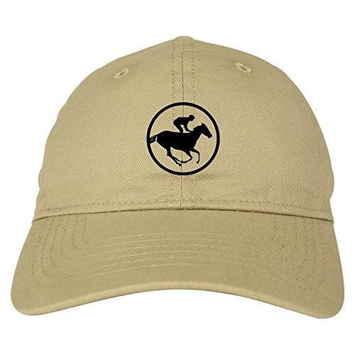 Racing Hat Cap Baseball (Derby Horse Racing Chest 6 Panel Dad Hat Cap Beige)
