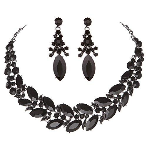 formal black dress jewelry - 4