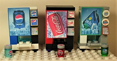 Coca Cola Vending Machine - Custom Toys & Hobbies LEGO CUSTOM Vending Machines COCA COLA / PEPSI / SPRITE WITH beverage READY TO PLAY!