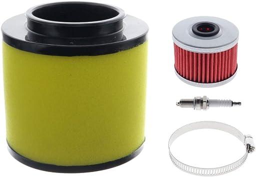 Foreman 400 /& 450 Air Filter For Honda Rancher 350 Oil Filter /& NGK Spark Plug