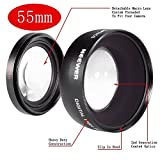 NEEWER® Digital 55mm Macro Wide Angle Lens 0.45X High Definition For Sony DSLR A230 A350 A300 A330 A500 A700 A900 A100 A200 with Lens Bag