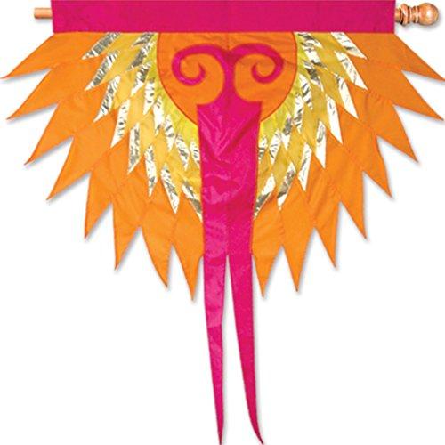 Premier Kites 53206 Progressive Hanging Banner, Phoenix, Orange -