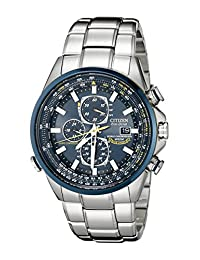 """Citizen Men's AT8020-54L""""Blue Angels"""" Stainless Steel Eco-Drive Dress Watch"""