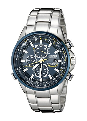 - Citizen Men's AT8020-54L Blue Angels Stainless Steel Eco-Drive Dress Watch