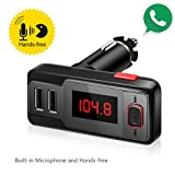 Perbeat-Wireless-In-Car-Bluetooth-FM-Transmitter-USB-Car-Charger-Radio-Adapter-Audio-Receiver-Stereo-Music-Modulator-Car-Kit-Hands-Free-Call-AUX-Input-with-Micro-SDTF-Card-Slot-and-IR-Remote-Control