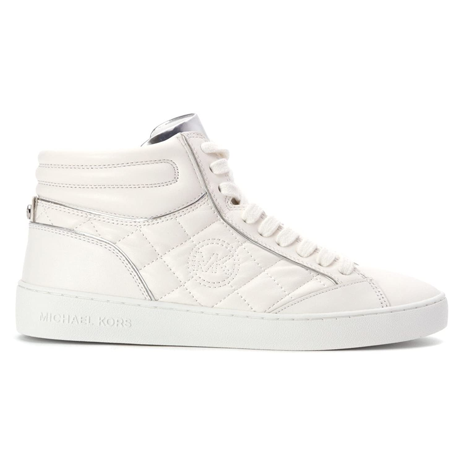 MICHAEL Michael Kors Paige Quilted High Top Womens Optic White