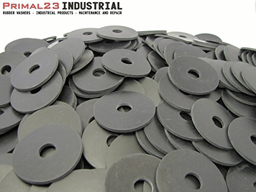 (100) Rubber Washers | 2 1/4'' OD X 9/16'' ID X 1/8'' Thickness Neoprene Rubber Washers 60 Duro by Primal23 Industrial