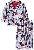 Marvel Baby Boys Spiderman 2-Piece Pajama Coat Set, Webtastic Gray, 12M