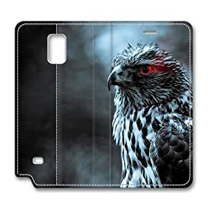 Brain114 Fashion Style Case Design Flip Folio PU Leather Cover Standup Cover Case with Eagle Eye 2 Pattern Skin for Samsung Galaxy Note 4 WANGJING JINDA