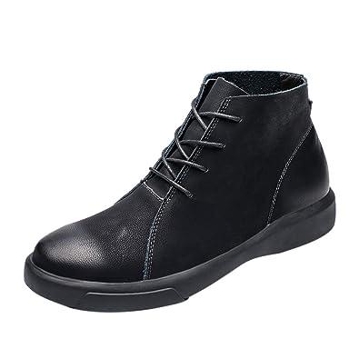 ZYUEER Herren Schuhe Mode Retro High Top Stiefeletten Mit