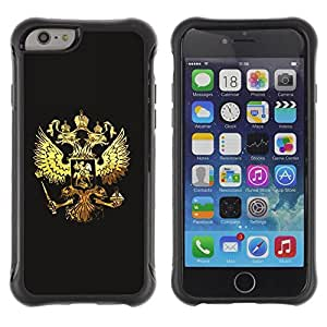 Suave TPU GEL Carcasa Funda Silicona Blando Estuche Caso de protección (para) Apple Iphone 6 PLUS 5.5 / CECELL Phone case / / Royal Golden Phoenix Eagle Crest /