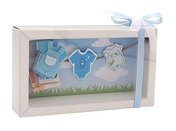 Zauberdeko Geldgeschenk Verpackung Baby Strampler Rosa Blau Geburt