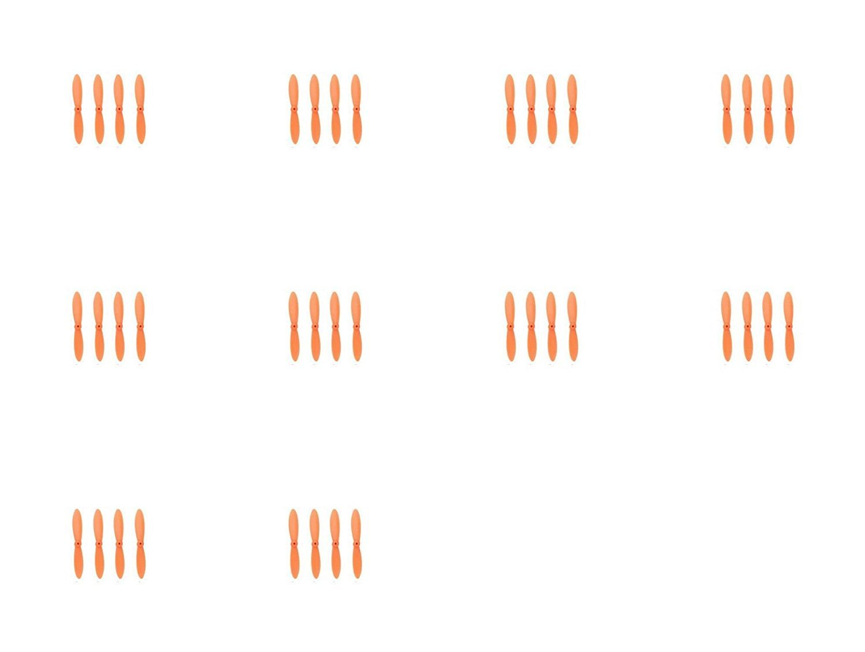 10 x Quantity of Estes Proto-X All Orange Nano Quadcopter Propeller blade Set 32mm Propellers Blades Props Quad Drone parts - FAST FROM Orlando, Florida USA!