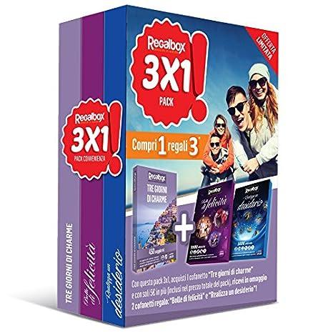 Regalbox - Pack 3x1 Tre giorni di charme - 3 cofanetti regalo ...