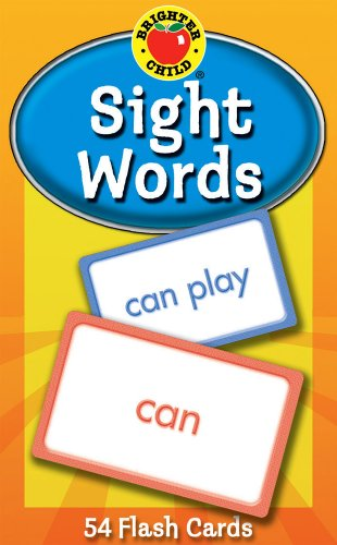 Carson Dellosa - Sight Words Flash Cards - 54 Cards for Phonics and Reading, Preschool / Kindergarten Toddlers, 1st Grade, Ages 4+ (Brighter Child Flash - Brighter Learning Child Activities