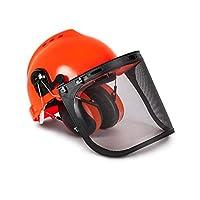 Casco de seguridad forestal industrial TR y sistema de protección auditiva