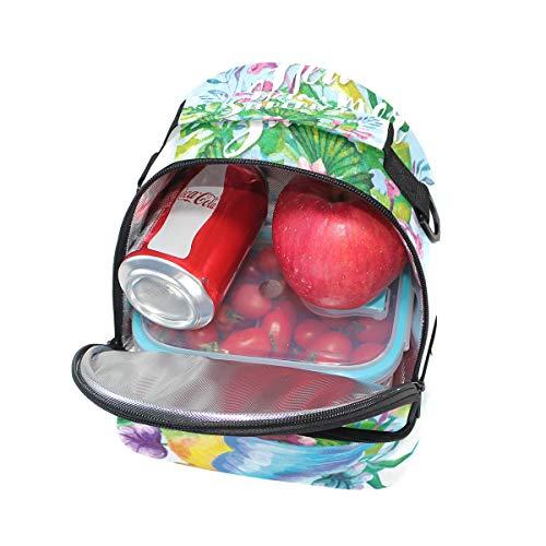 avec Tote avec pour lunch Folpply imprimé à Pincnic Parrot réglable Sac isotherme bandoulière l'école d'été Cooler Hellow à floral Boîte qBBfO7xt